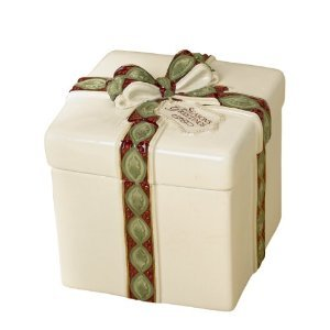 Grasslands Road Holiday Presents 5-1/2-Inch by 51/2-Feet by 6-1/2-Inch Candy Jar with Lid