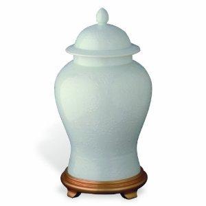 Port 68 Blanc De Chine White Porcelain Temple Jar, 18-Inch Tall
