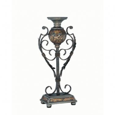 Lite Source C41033 Narcisco Traditional Large Candle Holder, Mosaic