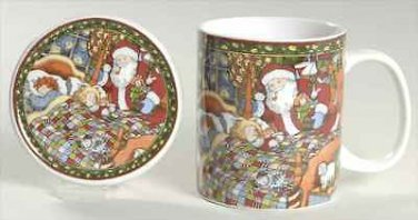 Portmeirion A Christmas Story Mug and Coaster Set-Set of 2