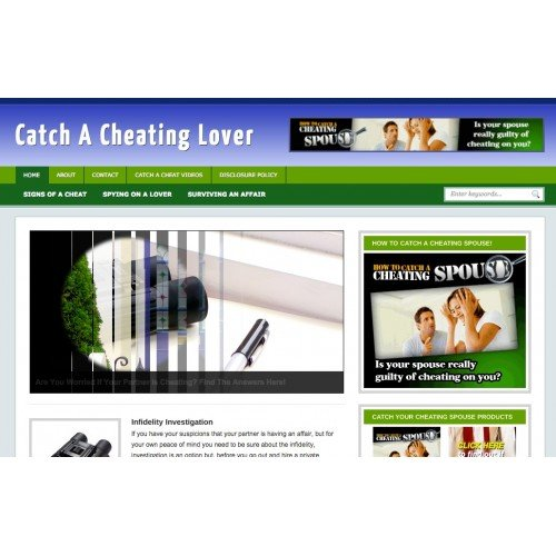 Catch A Cheating Lover Niche Blog