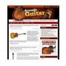 Acoustic Guitar Wordpress Niche Blog