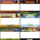 6 Custom Designed Minisites (HTML)