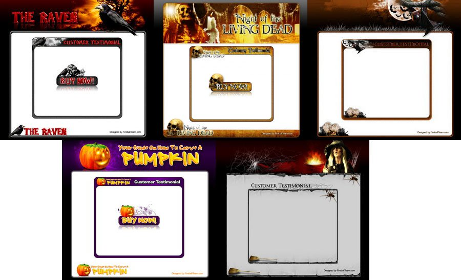 5 Halloween Template Package V.1