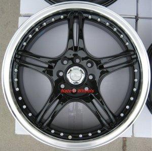 "17"" Black ADR Battle Exe Rims and Nexen N3000 Tires 4 Lug"
