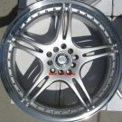 "17"" Silver ADR Battle Exe Rims and Nexen N3000 Tires 5 Lug"