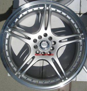 """17"""" Silver ADR Battle Exe Rims and Nexen N3000 Tires 5 Lug"""
