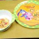 Disney Babies Winnie The Pooh Tigger Eeyore Piglet Feeding Plate & Bowl Set