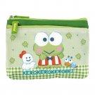 Sanrio Kerokerokeroppi Two-Zip Pouch bag coin purse cards case Frog