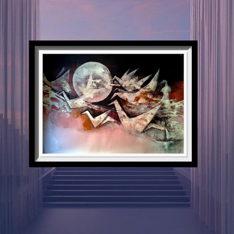 Abstract meditation painting 2021