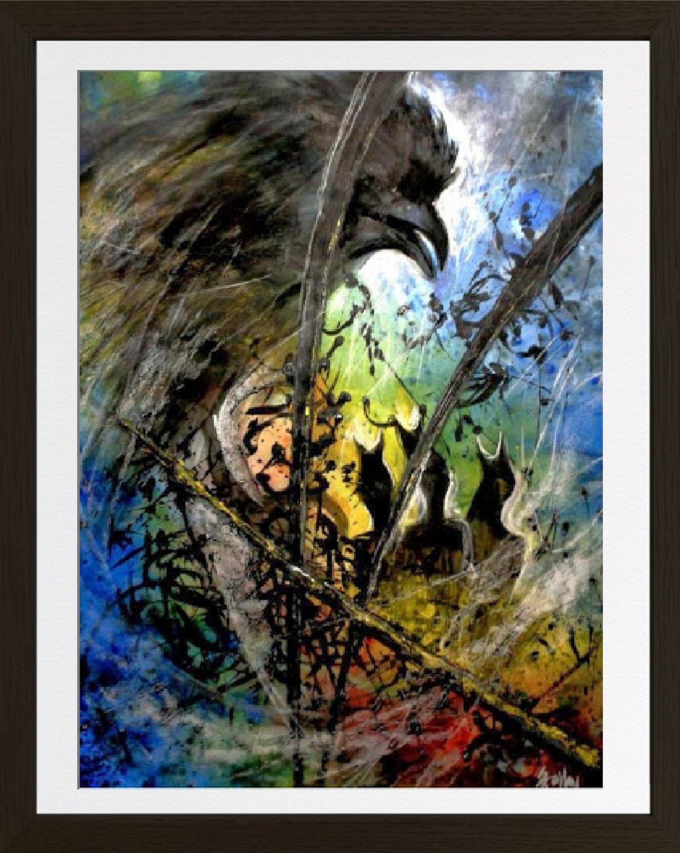 Abstract meditation painting2021E