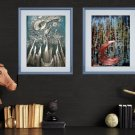Abstract meditation painting2021I