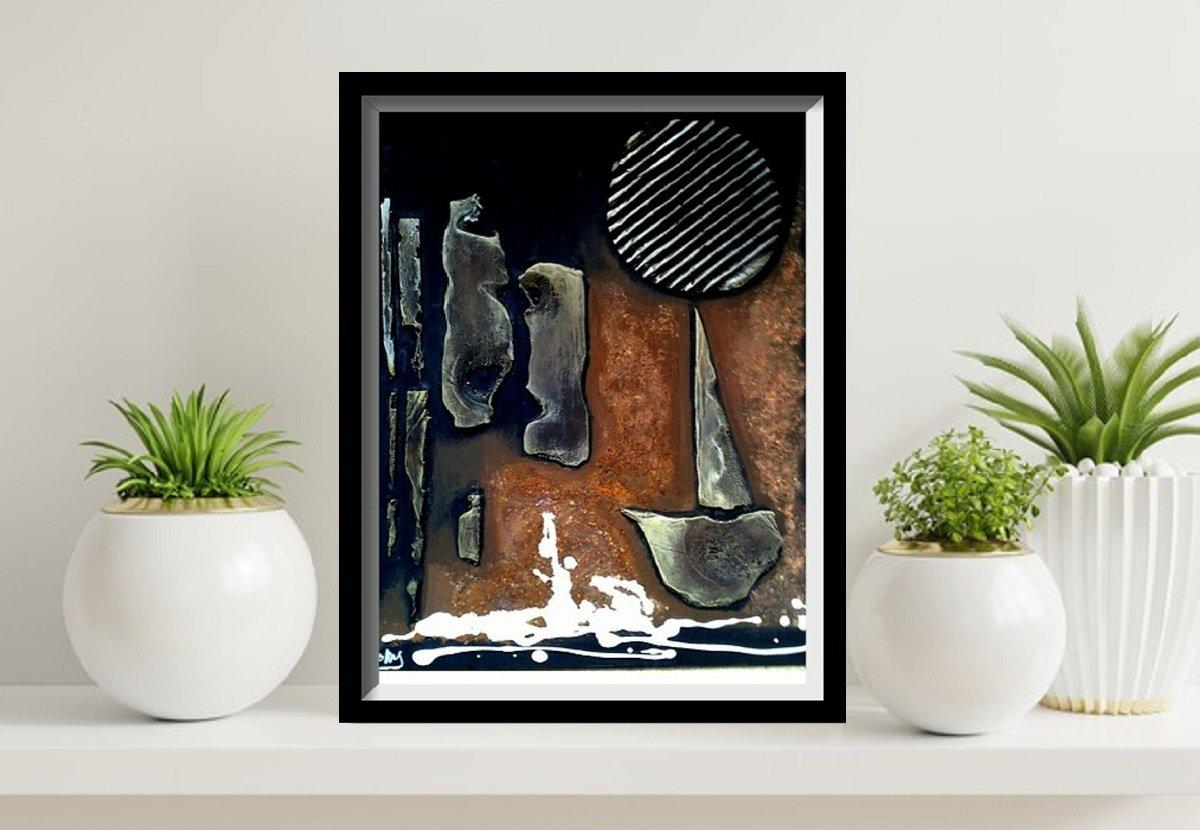 Abstract meditation painting mixte media02