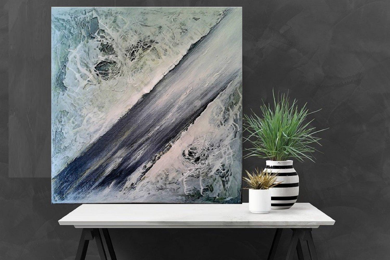 Abstract meditation painting mixte media04
