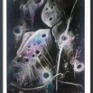 Pastel drawing Black and white river of stars03