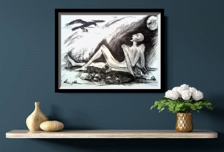 Abstract meditation Pastel drawing 2021 V