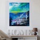Acrylic painting Ocean -bleu C
