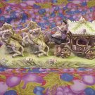 Nippon Porcelain Figural Horse & Carriage - 14""