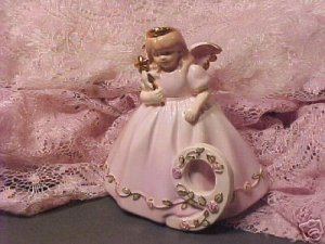 No 9 Porcelain Pink Birthday Angel