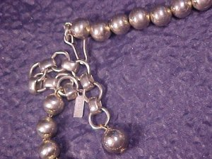 Monet Silver Tone Bead Beaded Adj Necklace
