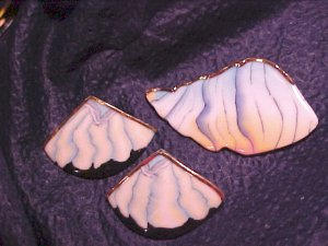 Beautiful Pastel Modernist Art Pin & Earring Set