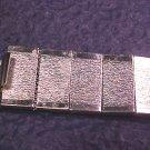 Silver Tone Modernist Link Bracelet
