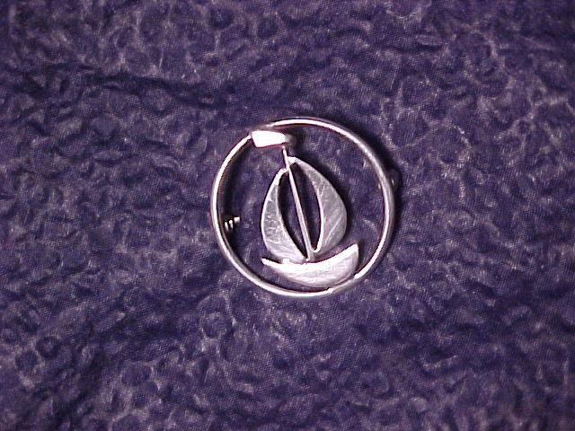 Beau Sterling Silver Sailboat Boating Pin