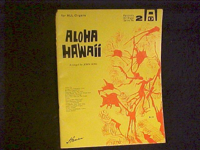 Aloha Hawaii 1960 Sheet Music Song Book