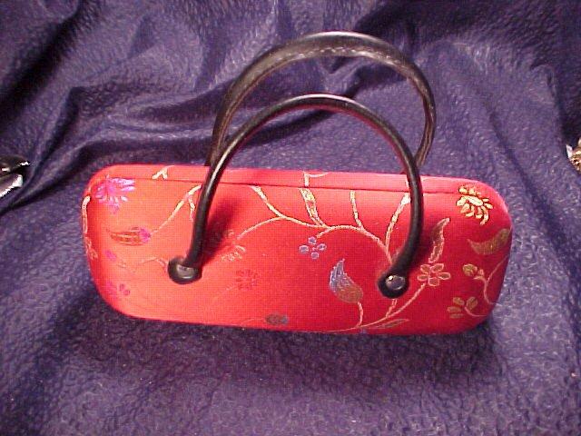 Oriental Satin Jazzy Red Clutch Purse