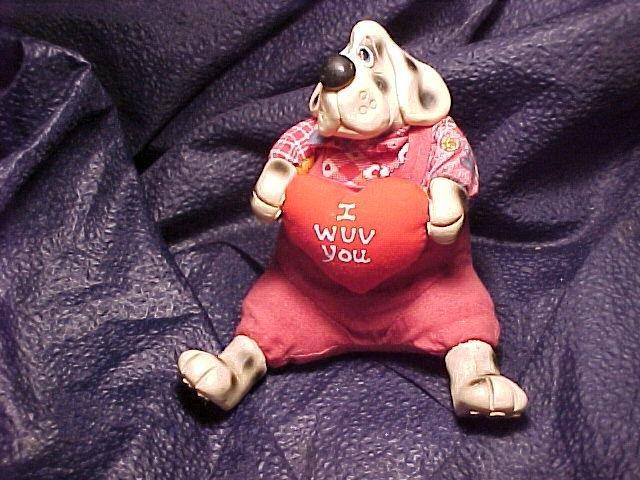 ~ Kathleen Kelly Collectible Valentine Dog ~ Retired