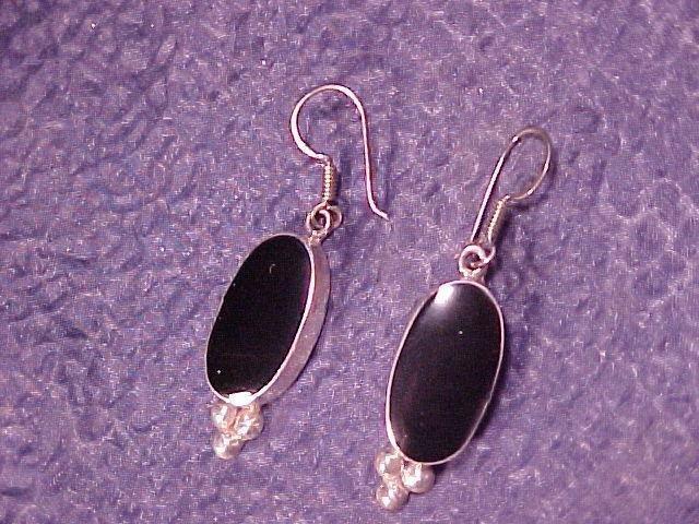 Artisan Onyx & Sterling Silver Classic Pierced Earrings