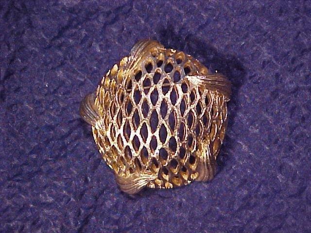 Modernist Lattice Basket 1970's PIN