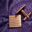 Vintage Gold Tone Cuff Links Cufflink Pair