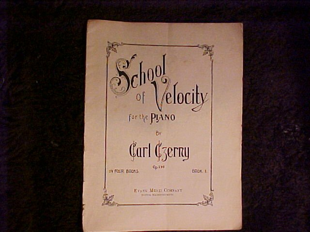 School of Velocity for the Piano by Carl Czerny Music