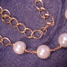 16mm Faux Pearl Link Necklace ~