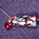 Art Glass Rainbow Beads on Sterling Chain