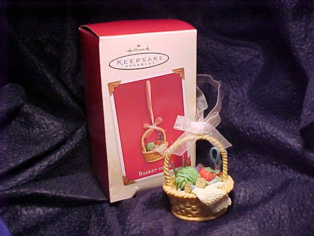 Hallmark Keepsake Ornament Basket of Joy 2003 MIB -FREE SHIPPING
