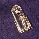 Modernist Mirrored Lady Fashion PIn