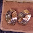 Crown Trifari Clip Earrings ~ Vtg Deco Design