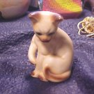 Lefton Vintage Siamese Cat Porcelain Figurine FREE SHIPPING !