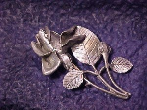 Vintage Arts & Crafts Rose Pin ~ Free Shipping On All Items!!