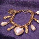 Faux Pearl Elegant Charm Bracelet ~ Free shipping !
