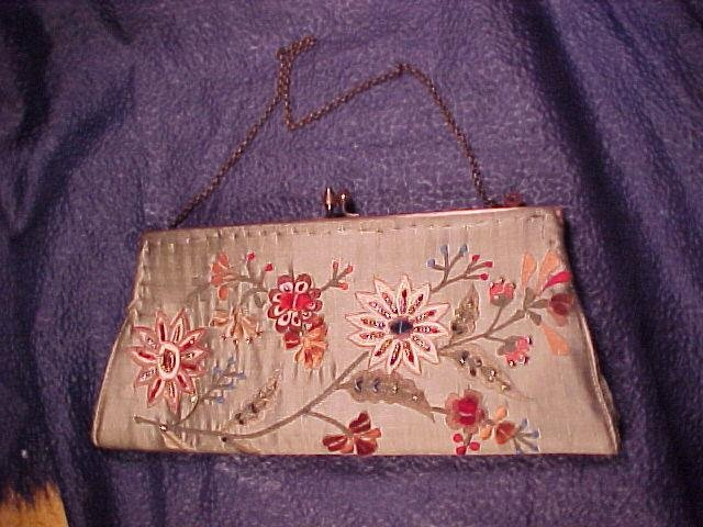 Lovely Embroidered Bead Beaded Hand Bag Purse FREE SHIPPING!