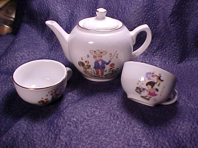 Doll's Porcelain Teapot Set ~ Shipping Included