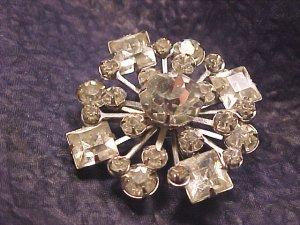 Atomic Era Sparkling Rhinestone Pin ~ Free Shipping