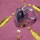 Victorian Styled Hematite Designer Ring Size 6-7