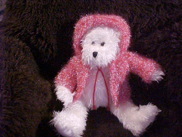 "15"" I.C. Plush Bear Sparkle White Stuffed Teddy"