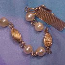 1950's Faux Pearl Sweater Guard Clips