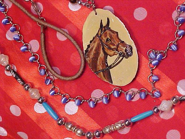 Sandra Snow Arabian Horse Pendant & Necklace Lot