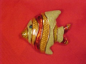 Tropical Fish PS Co 2000 Summer Pin Brooch Costume Jewelry